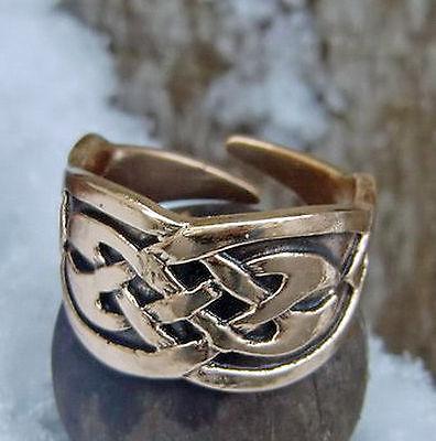 2019 Neuer Stil Massiv Ring Bronze Mittelalter 52-58 Keltischer Knoten Keltenring Verstellbar