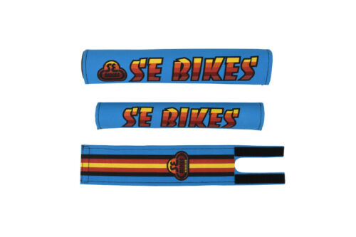 SE BIKES Pad Set PK Ripper Old School BMX Blue//Multi SE Racing Flyer