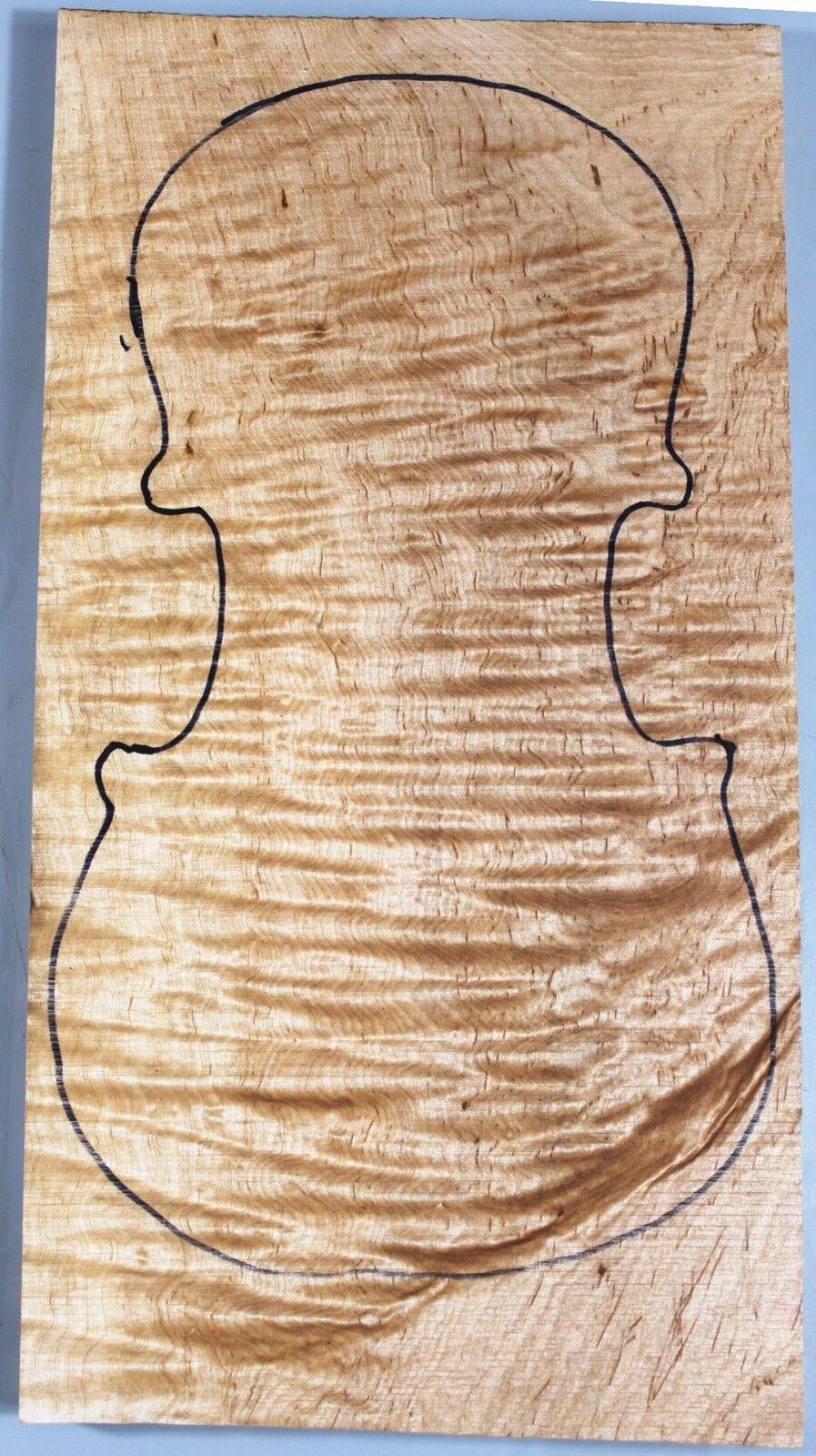 Elegant Ripple Maple 4 4 Violin Top Instrument Music Supply  3516