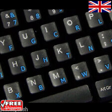 Dvorak Transparent Keyboard Stickers With Blue Letters For Laptop PC Computer