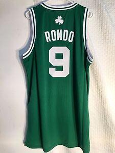 sneakers for cheap b34e6 8089c Details about Adidas Swingman NBA Jersey Boston Celtics Rajon Rondo Green  sz 3X