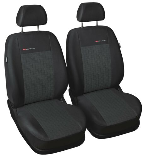 Car seat covers for front seats fit Peugeot 206 grey pair #1
