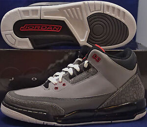 huge selection of 987db 607bd Image is loading 2011-Nike-Air-Jordan-3-III-Retro-Stealth-