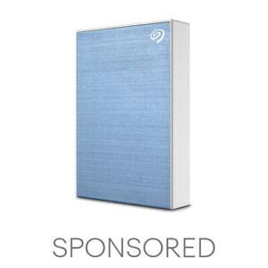 Seagate One Touch HDD 2TB External Hard Drive Light Blue (STKB2000402)