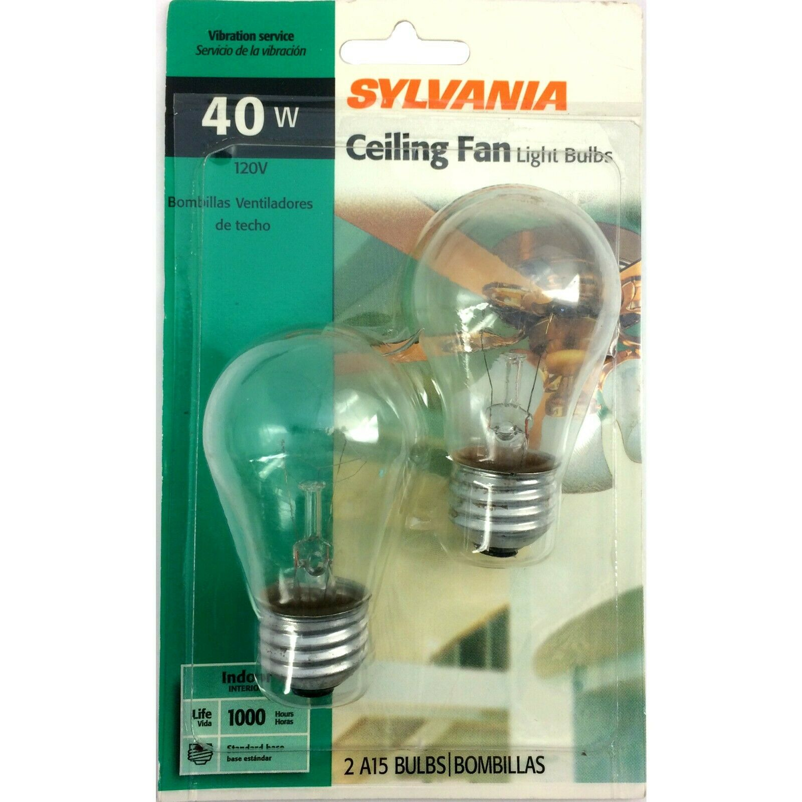 1 or 6 120v Sylvania Incandescent PKS OF 2 BULBS 60w or 40w