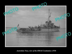 OLD-8x6-HISTORIC-PHOTO-OF-AUSTRALIAN-NAVY-SHIP-HMAS-CONDAMINE-c1950