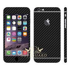 SopiGuard Black Carbon Fiber Vinyl Skin Full Body for Apple iPhone 6S Plus 5.5