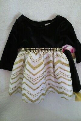 Newborn Baby Girl Velvet Skirts Dress Infant Ruffle Sleeve Dresses with Sequin Headband Holiday Dress for Baby Girl