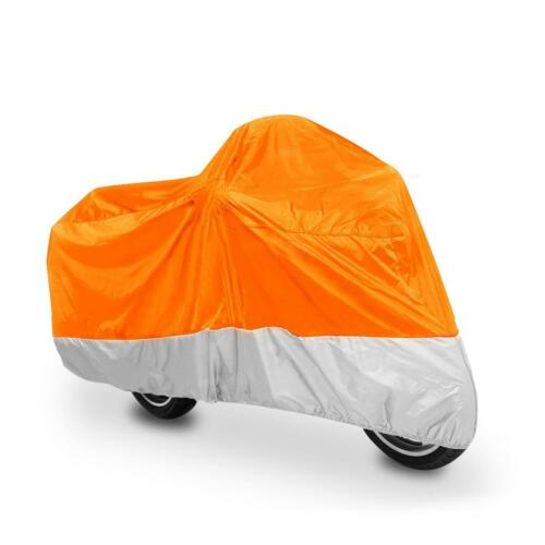 Orange//Silver L//XXL//XXXL Motorcycle Waterproof Cover Outdoor Indoor Universal