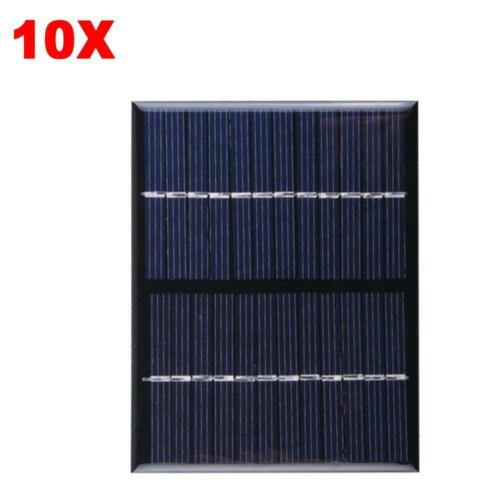 10X Mini 12V 1.5W Solar Power Panel Solar System DIY For Cell Phone Chargers TB