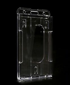 1-Vertical-Hard-Plastic-ID-Badge-Holder-Case-Cover-Double-Card-Transparent-01
