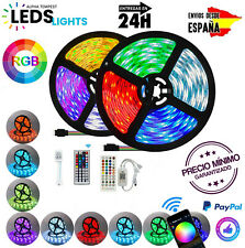 Tiras de luz LED RGB 5050 Bluetooth WIFI Flexible Luces de habitación...