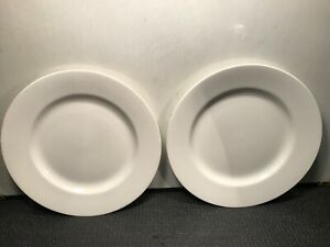 2-MARTHA-STEWART-039-039-KENSINGTON-039-039-ALL-WHITE-DINNER-PLATES-11-1-4-039-039