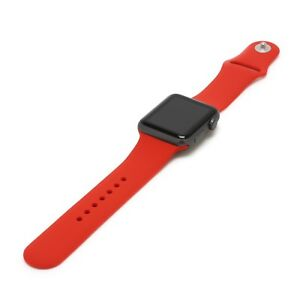 United Red Genuine Leather Crocodile Strap Band For Apple Watch 38mm 40mm 42mm 44mm Jewelry & Watches