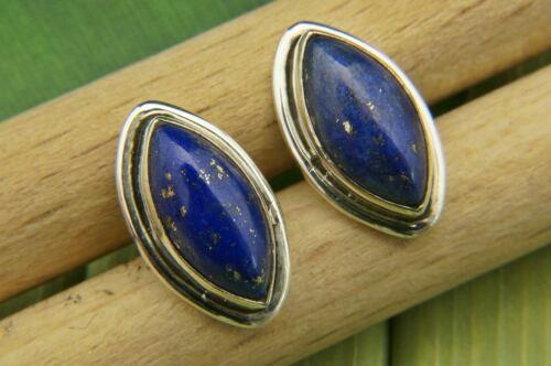 MOS 45-06 Lapis Lazuli Ohrstecker 925 Silber Sterlingsilber Ohrringe blau