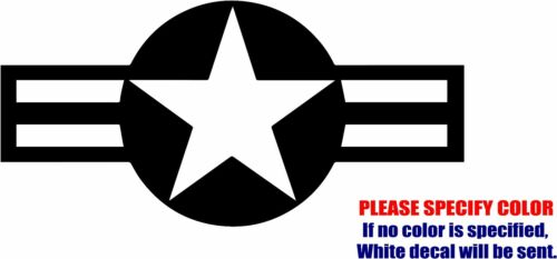 "USAF Aircraft Insignia Decal Sticker JDM Funny Vinyl Car Window Bumper Truck 7/"""