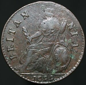 1699-William-III-Half-Penny-039-Type-3-039-Copper-Coins-KM-Coins