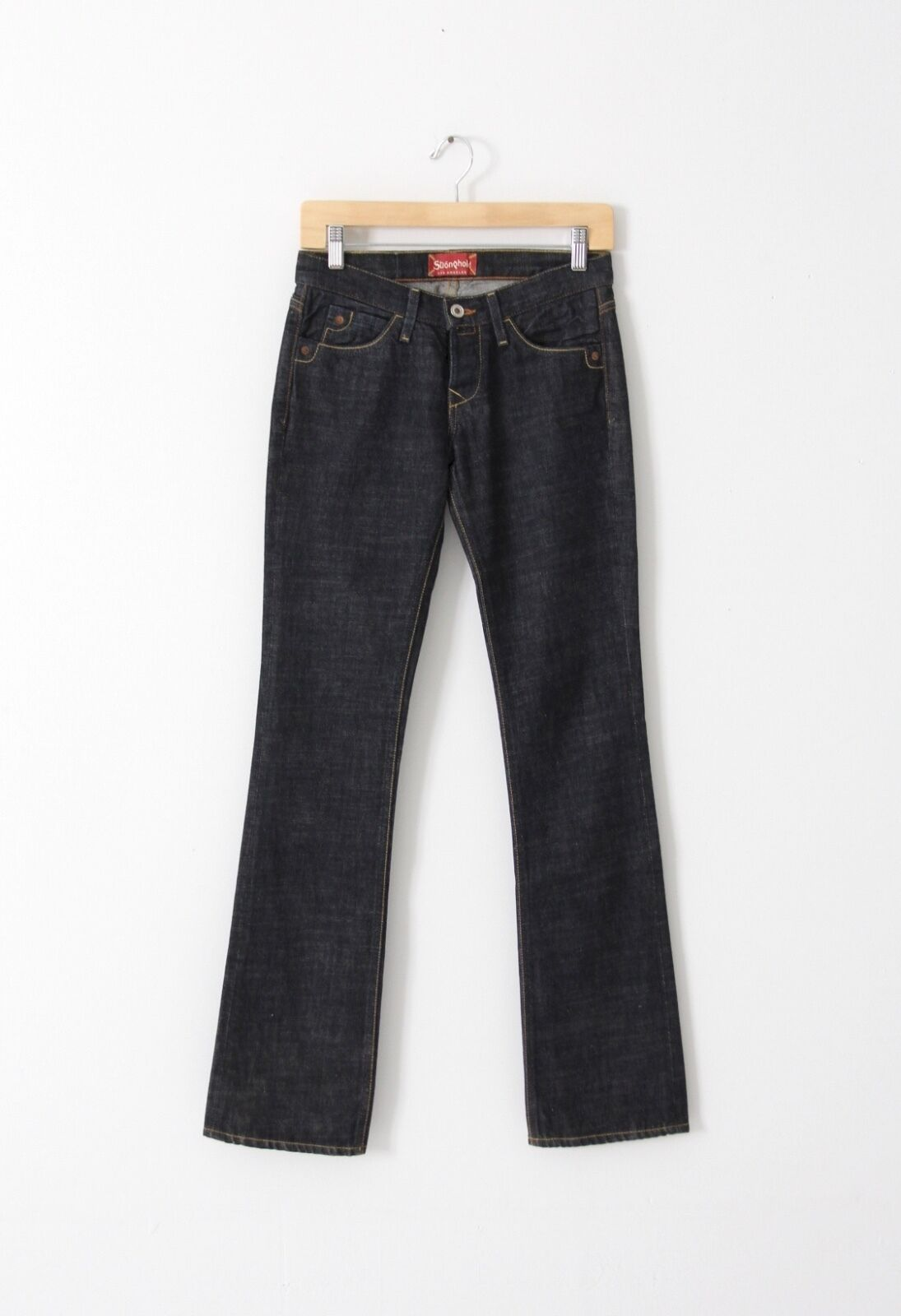 Stronghold denim jeans, women's bootcut dark wash jeans size 25