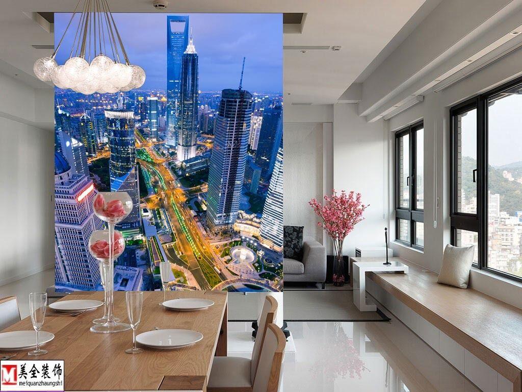 3D Blaue wolkenkratzer 24659 Fototapeten Wandbild Fototapete BildTapete Familie