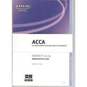 F7 Financial Reporting FR (INT and UK) - Exam Kit (Acca), Kaplan Publishing, Use