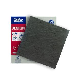 auto-adhésif Gerflor Vinyle Design Carreau 0220 Slate Anthracite 1qm