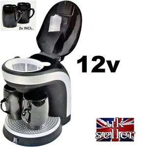 12V-Motorhome-Camper-ELECTRIC-COFFEE-MAKER-AND-2-FREE-CUPS-SELF-BUILD-12-VOLT