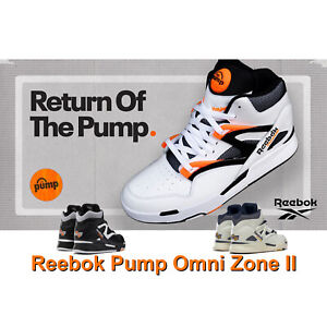 Reebok Pump Omni Zone II 2 Dee Brown Black White Orange Men Basketball Pick 1