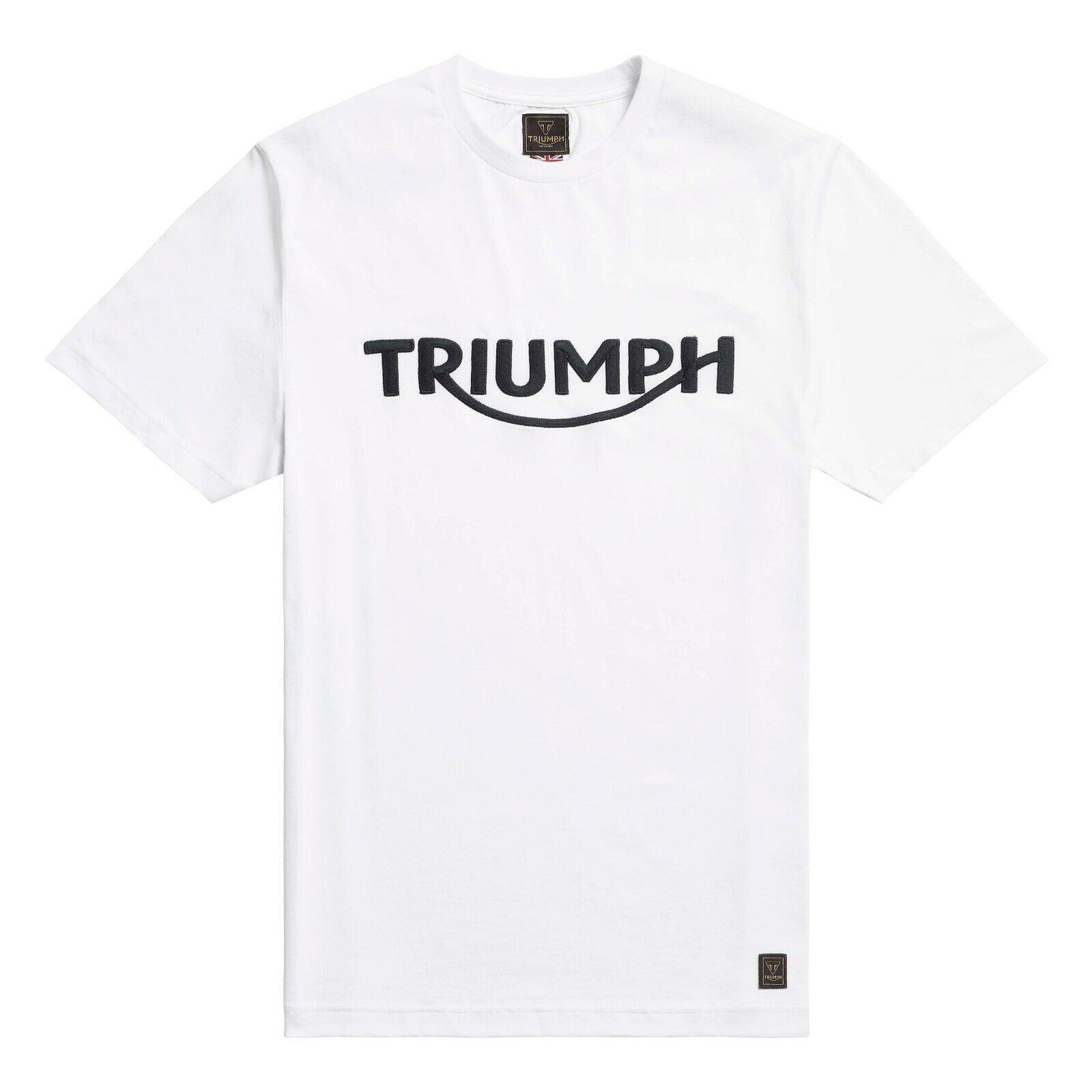 Genuine TRIUMPH T-shirt Bamburgh JET BLACK TRIUMPH Logo