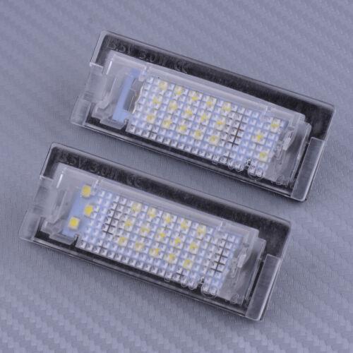 Paar Weiß LED Kennzeichen Beleuchtung Nummernschild Licht Für BMW E39 5D Touring