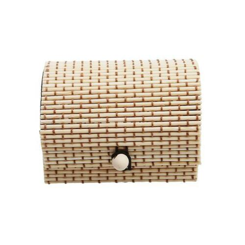 Earrings Bamboo Wooden Case Jewelry Storage Boxes Gift Box Lin Necklace