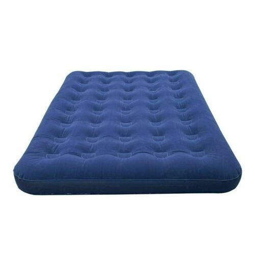 INFLATABLE DOUBLE FLOCKED AIR BED CAMPING AIRBED MATTRESS