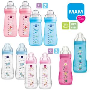 MAM Easy Active Bottle Baby Latte Maderno pelle morbida del seno in...