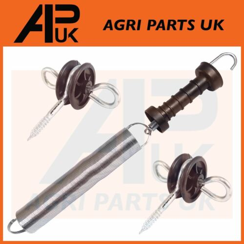 1 x Electric Fence Spring Gate Kit 5m Set Handle Insulators Anchor Screw Fencing