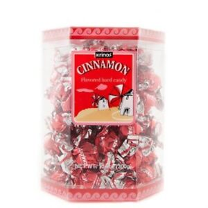 Krinos-Cinnamon-Flavored-Hard-Candy-10-6-oz-Box-Naturally-Flavored-Brand-New