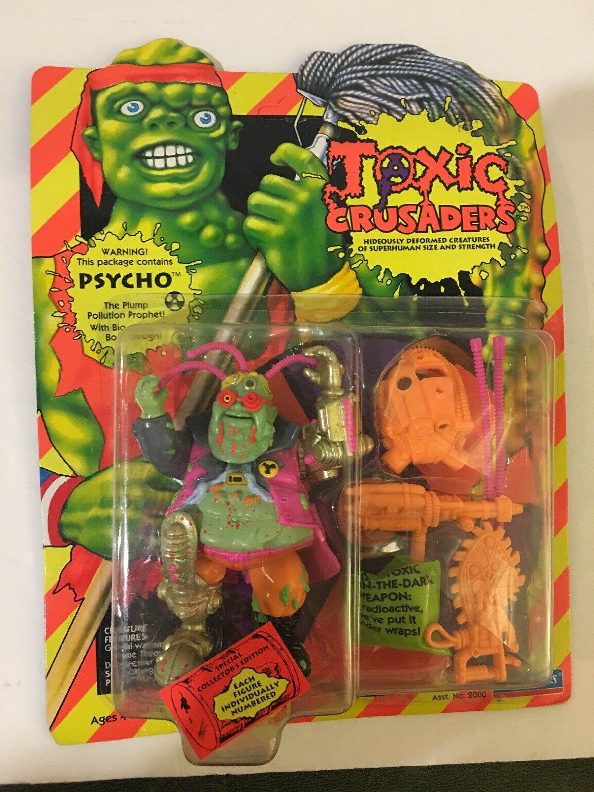 Toxic Crusader Psycho Playmates   2010 Special Collectors Edition 1991 Unpunched