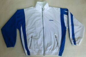 a07a7bf321188 Details about Vintage 90's Adidas Windbreaker Rare Blue White Track Jacket  Size M Medium Top