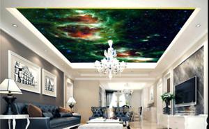 3D bluee Stars Magic Sky 7 Ceiling Wall Paper Print Wall Indoor Wall Murals CA
