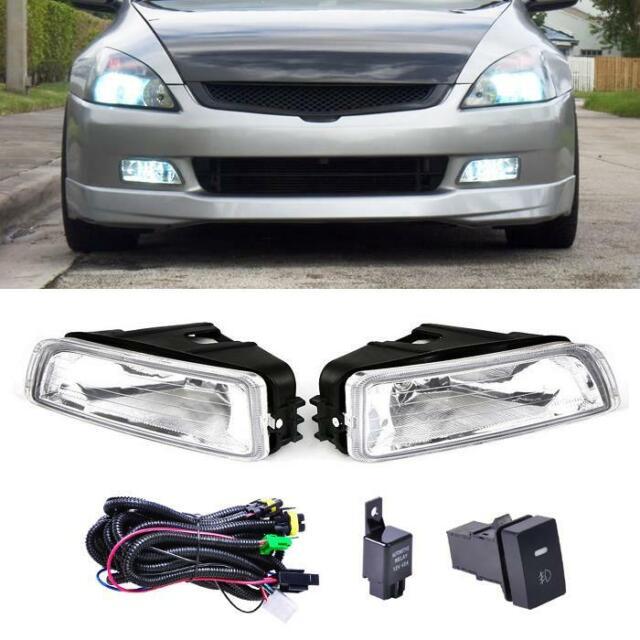 Clear Bumper Driving Lamp Fog Light Switch For 03-07 Honda