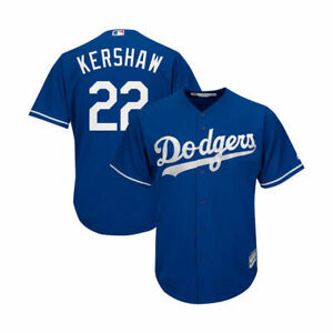 the latest a9120 8bacd Details about Los Angeles Dodgers Mens Jersey #22 Clayton Kershaw Majestic  Cool Base Blue