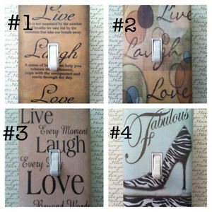 Image Is Loading Live Laugh Love Home Decor Custom Light Switch
