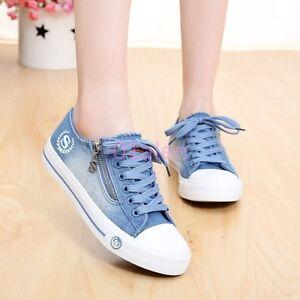 Denim Canvas Shoes Womens
