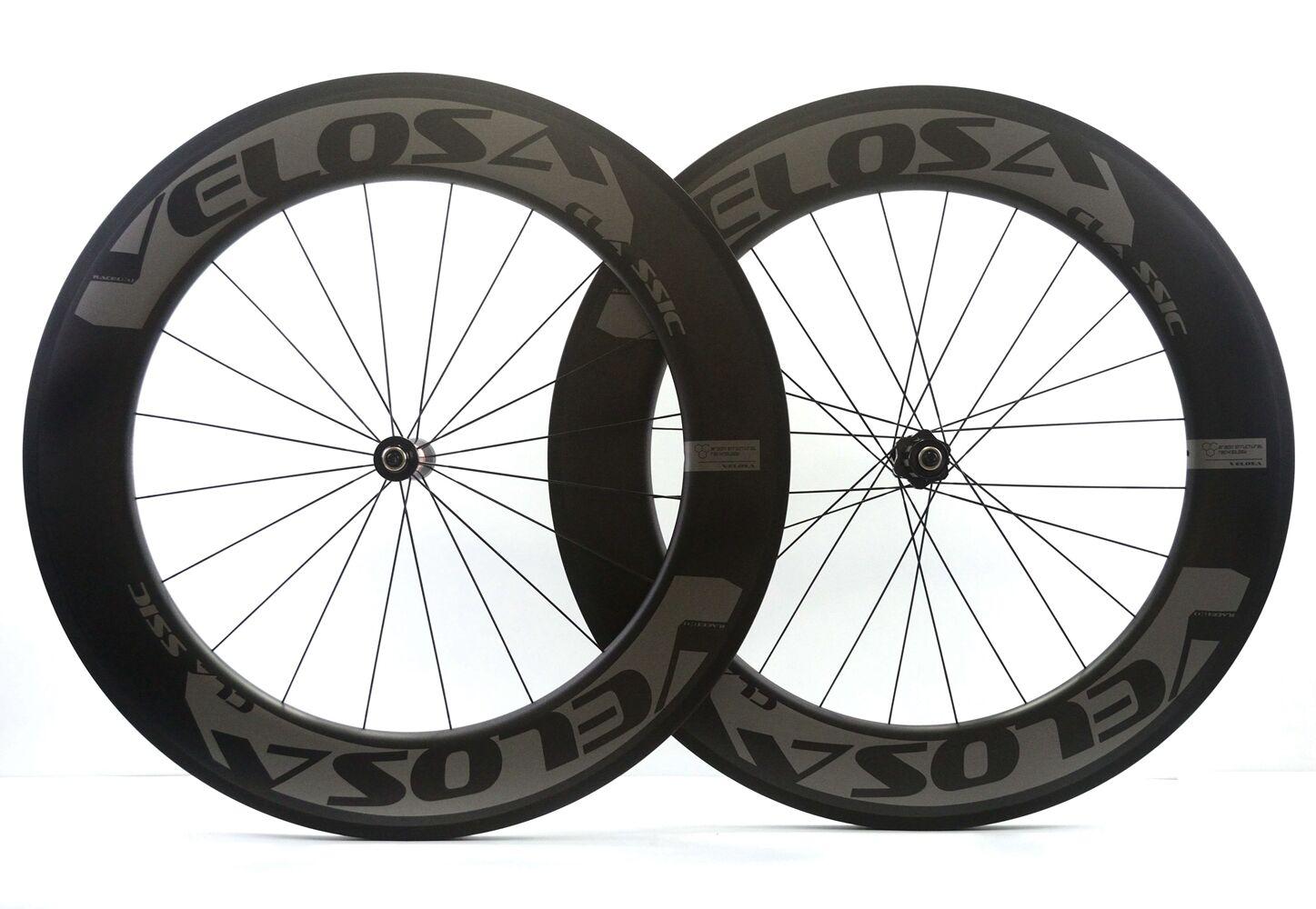 Velosa RACE 80  triathlon road bike 700C carbon wheels,88mm wheel,DT swiss hubs