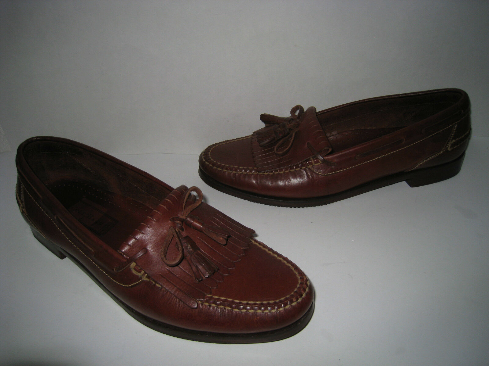 COLE HAAN COUNTRY COGNAC LEATHER KILTIE TASSEL LOAFER SIZE US 14M HOT  BRAZIL