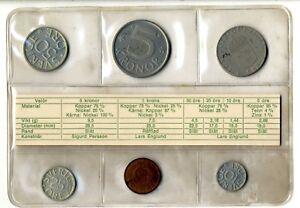 Set-monedas-Suecia-1976-Coins