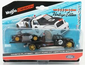 MAISTO 1/64 FORD USA   RAMP TRUCK WRECKER WITH FORD GT N 2 HERITAGE EDITION 2...