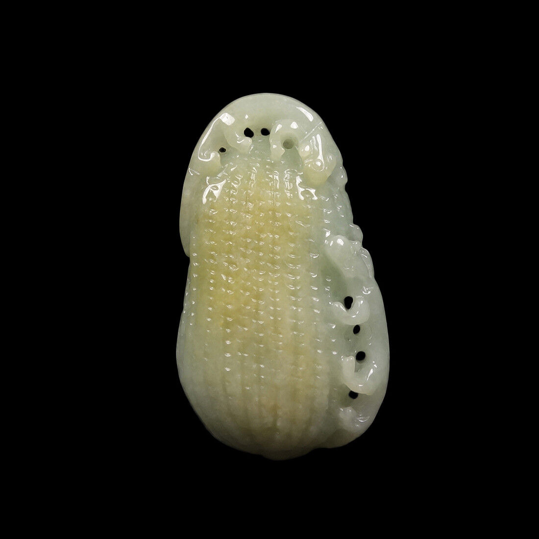 Certified Grade A 100% Natural Yellow Green Jade Jadeite Pendant PiXiu 56506