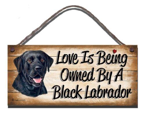 WOODEN SIGN DOG BLACK LABRADOR PET LOVER  GIFT PRESENT
