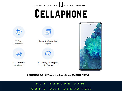 Details about  ~~Brand New~~ Samsung Galaxy S20 FE 5G 128GB – Cloud Navy – Au Stock