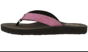 Cobian-Kids-LIL-Fiesta-Rasberry-Girls-Flip-Flop-Sandals-Size-4-5-Pink-NEW