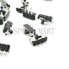 100pcs Msk 12d19 G2 Spdt 1p2t 3 Pin Pcb Panel Horizontal Slide Switch Smd